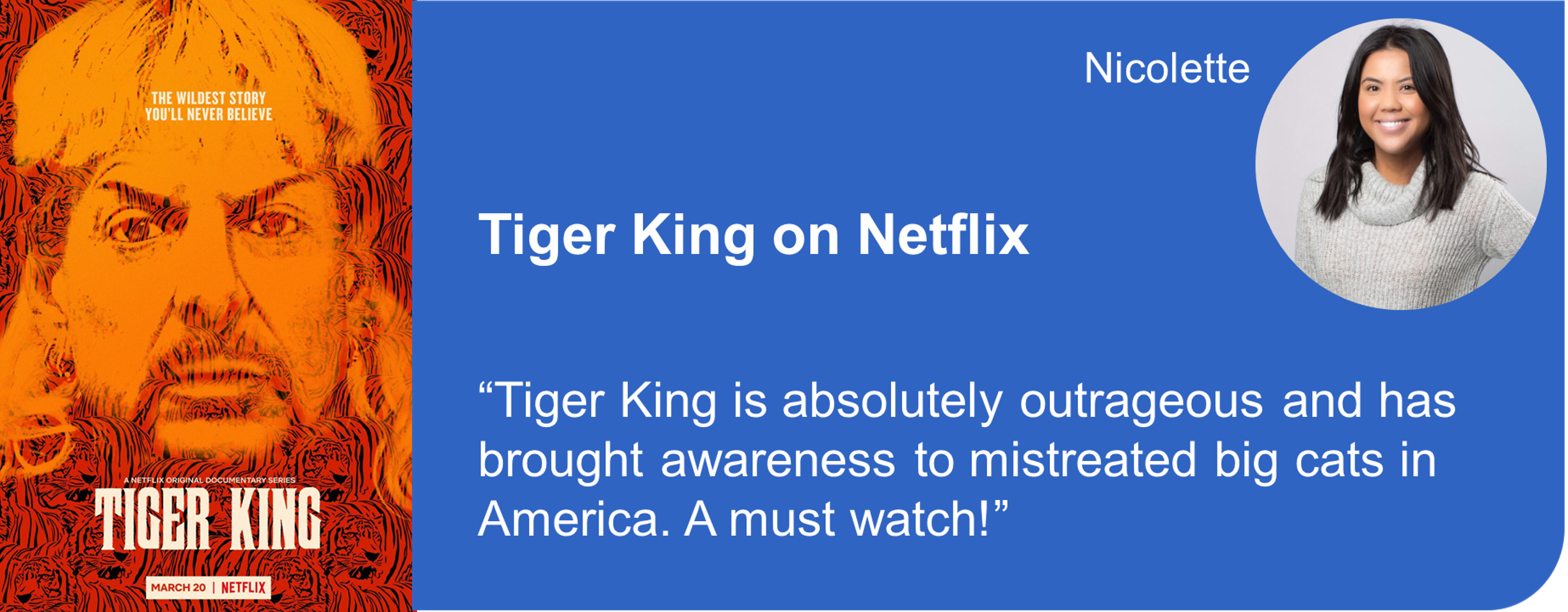Creative Marketing Concepts Quarantine And Chill Binge-Worthy Tiger King Netflix