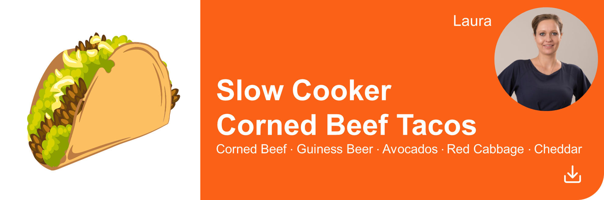 Creative Marketing Concepts QuarantineAndChill Slow Cooker Corned Beef Tacos Laura